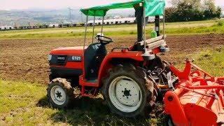 山口家の田んぼ耕運作業2016/04/20/2回目パート1 、クボタトラクターGT21