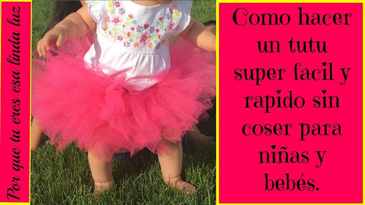 48f8ad3e6 DIY como hacer un tutu super facil y rapido sin coser para niñas y bebés.  con LInda Barraza