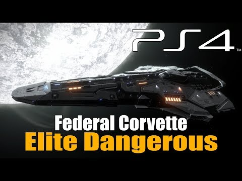 Repeat Elite:Dangerous  Anaconda vs Federal Corvette  Modded