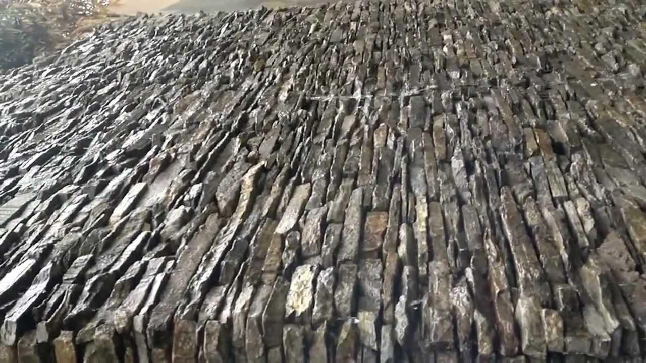 Real mex stone vivero muro lloron youtube for Cascadas para jardin piedra