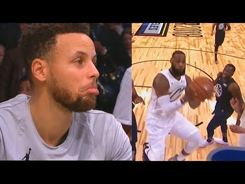 LeBron James IMPRESSES Stephen Curry with Amazing Layup! NBA All-Star Game 2018