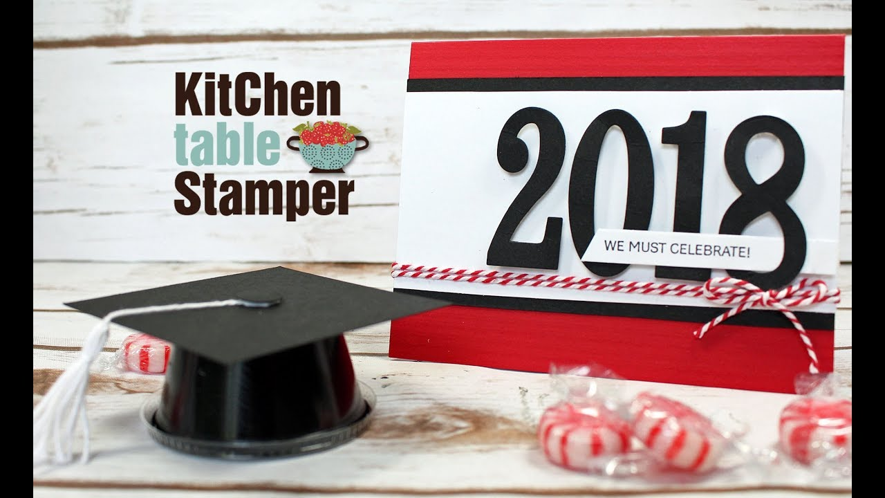 Stampin Up! Large Numbers We Must Celebrate Graduation Invitation ...