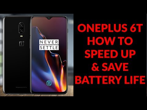 OnePlus 6T How To Speed Up & Save Battery Life - Things To Do Right Away - YouTube Tech Guy - 동영상