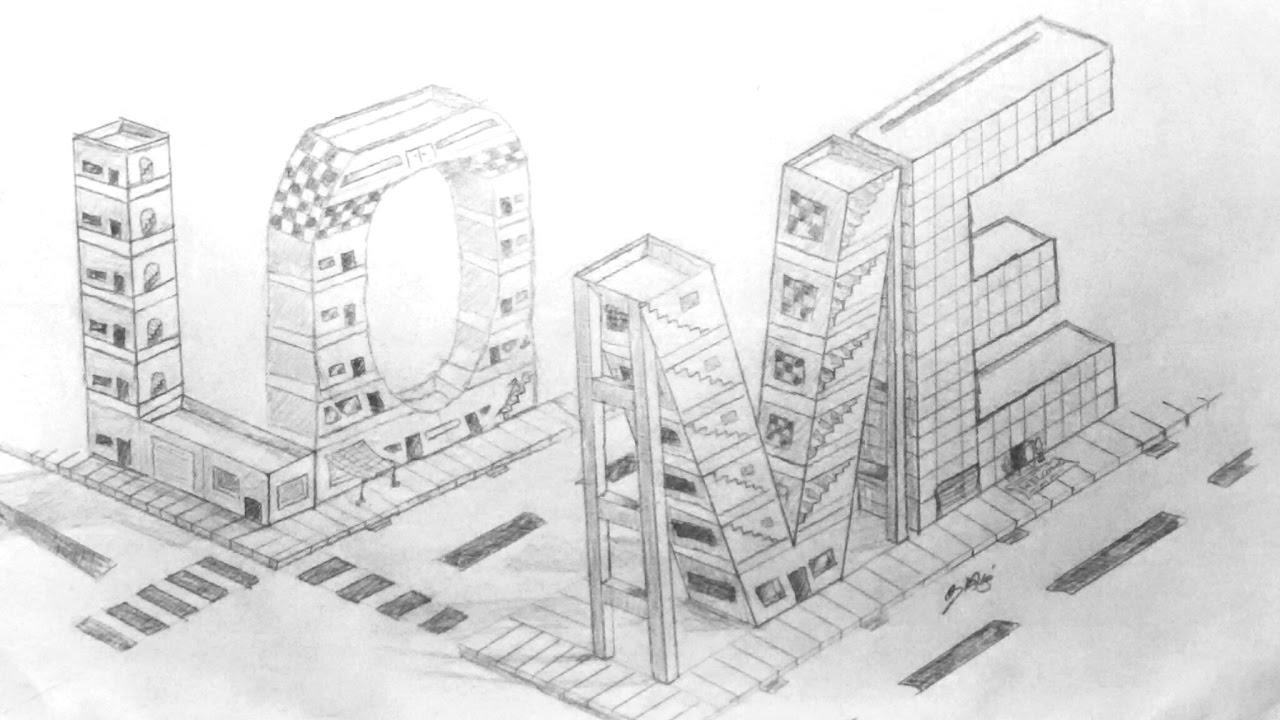 Drawing 3d Love In Buildings / EAETS - YouTube