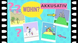 "Deutsch lernen: Frage ""Wohin?"" + ""in"" + Akkusativ / German: question ""Where to?"" + accusative case"
