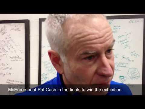 John McEnroe defeats Jimmy Connors at Nashville tennis exhibition