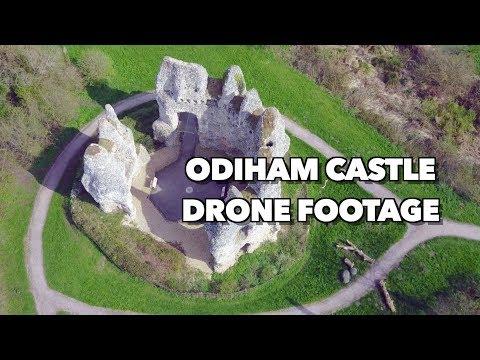 Incredible 4K Drone Footage of Odiham castle (King John