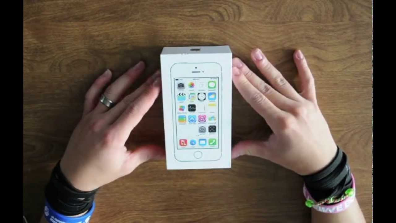 iPhone 5S Unboxing 16 GB Silver! - YouTube
