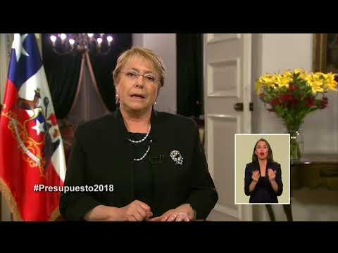 Cadena Nacional: Michelle Bachelet anuncia el presupuesto 2018 (01/10/2017)