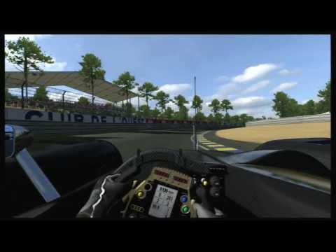 Gran Turismo 6 GT6 Audi R10 TDI Stealth Model @ La Sarthe - helmet cam