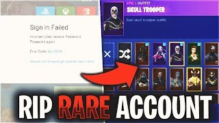 So someone hacked my $3000 RARE Fortnite Account...