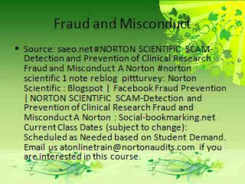 Blogspot: NORTON SCIENTIFIC SCAM-Detection and Prevention of Clinical Research Fraud - FC2 Knowhow