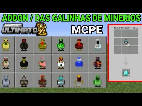 Download addon das galinhas de minerios mcpe