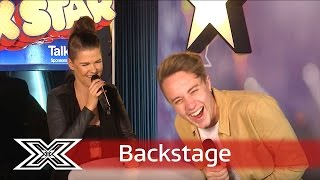 The X Factor Backstage with TalkTalk | Saara Aalto shows off her language skills!