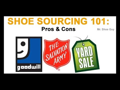 Flipping footwear 101 sourcing from goodwill salvation for Cons 101