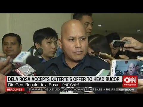 PNP CHIEF DELA ROSA ACCEPT DUTERTE'S OFFER TO HEAD BUCOR