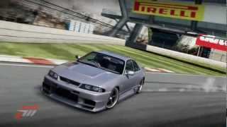 Forza Motorsport 4 Nissan Skyline GT R V Spec R 33 Iberian International Circuit Drift Lap HD