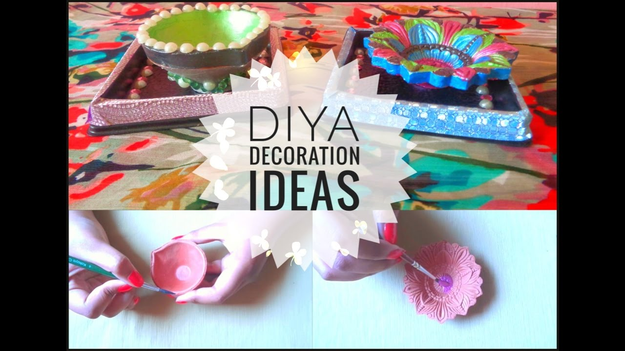 Diy diya decoration ideas for diwali 2016 youtube for Diya decoration youtube