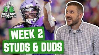 Fantasy Football 2019 - Week 2 Studs & Duds + Big Ben & Brees Injury Fallout - Ep. #775