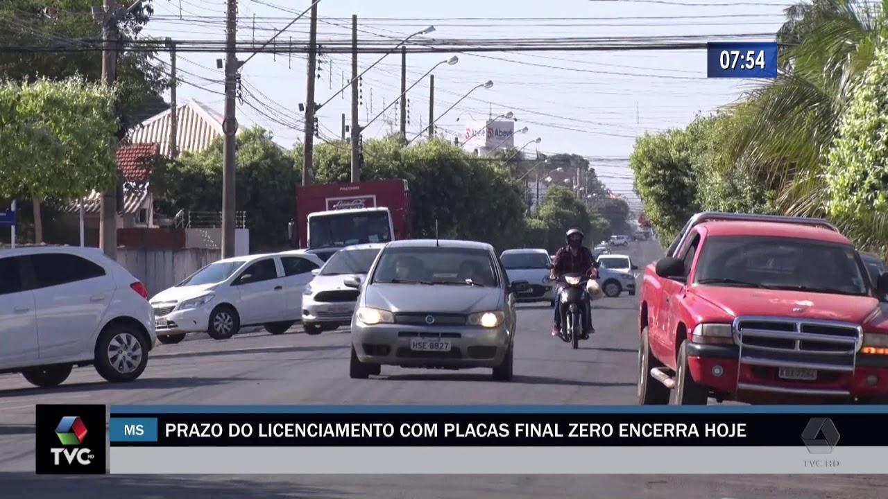 Prazo do licenciamento com placas final zero encerra hoje