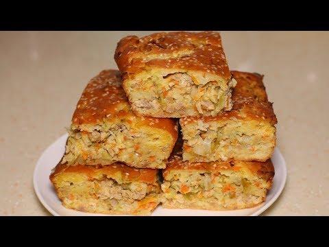 Самый быстрый заливной пирог с фаршем и капустой, готовится очень просто.