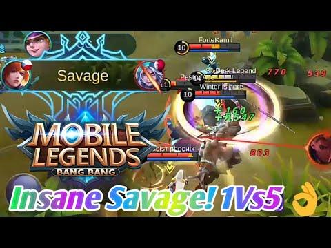 1 Vs 5  - Fanny Insane Savage (Build & Embleme) | Mobile Legend: Bang Bang