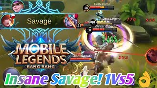 1 Vs 5  - Fanny Insane Savage (Build & Embleme) | Mobile Legend: Bang Bang