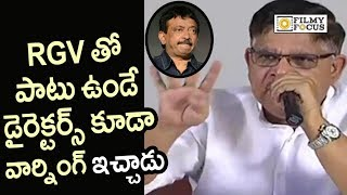 Allu Aravind Warning to RGV and his Group - Filmyfocus.com