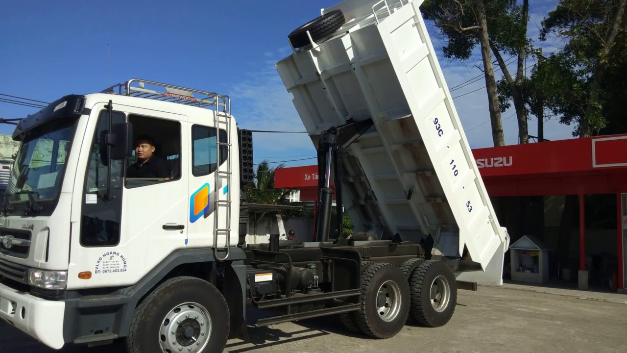 Xe ben Daewoo 15 tấn 3 chân 10 khối giá xe 1 tỷ6 Zalo.gọi 096 669 4414 - YouTube