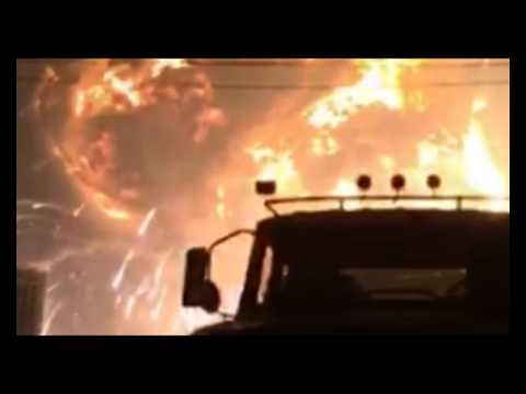 At the petrochemical plant in China, a powerful explosion occurred.
