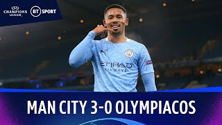 Man City v Olympiacos (3-0) | Champions League Highlights