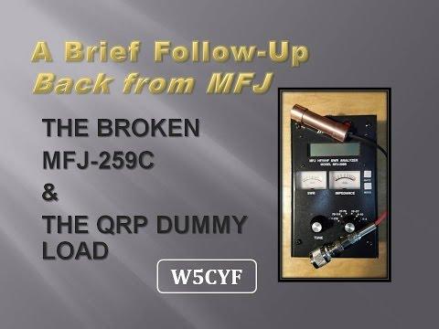 MFJ 259C Antenna Analyzer– Back from MFJ Service Repair