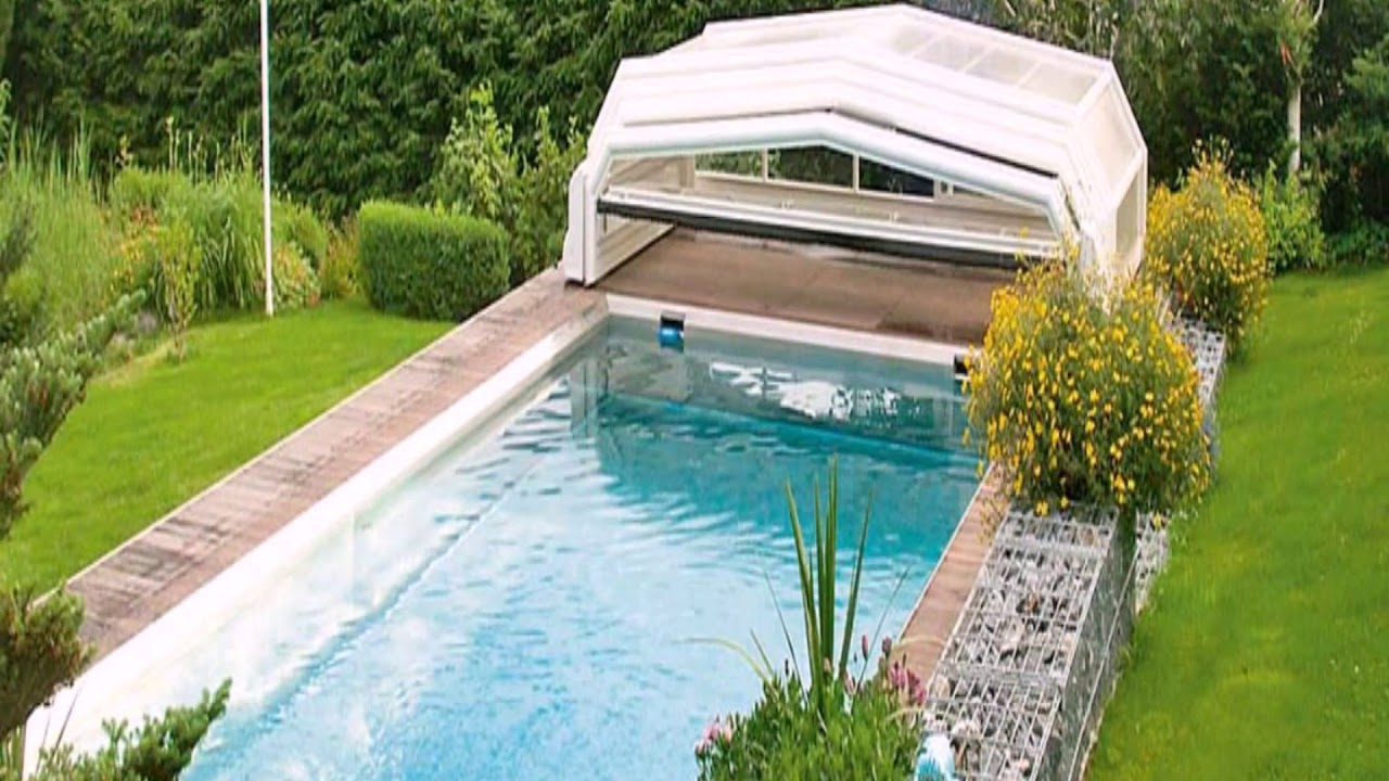 Garten pool mit berdachung youtube for Garten pool 457x122