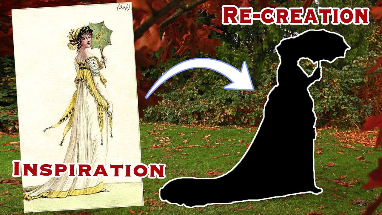 Recreating a Regency Fashion Plate || 1790s Accessories and Hair