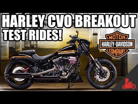 Harley-Davidson CVO Breakout Test Rides! (2017)