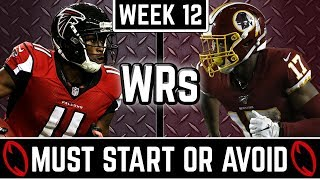 Must Start and Avoid - Wide Receiver - 2019 Fantasy Football (Week 12)