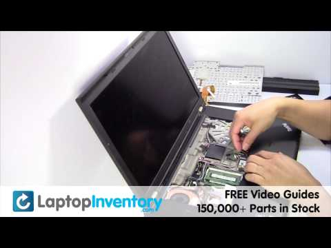 Lenovo ThinkPad W510 T410 Touchpad Replacement Palmrest Installation Replace Fix Install Laptop