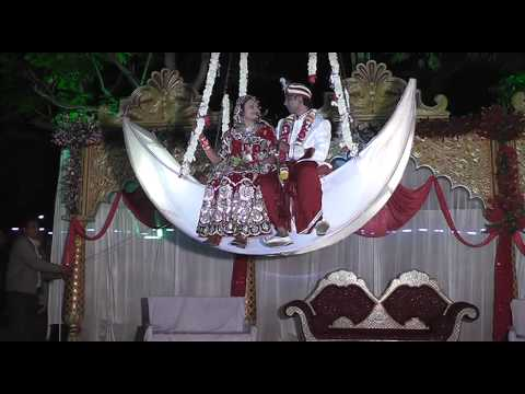 Best Wedding entry/ Indian Wedding event /marriage moon concept event entry reception gaurav heena