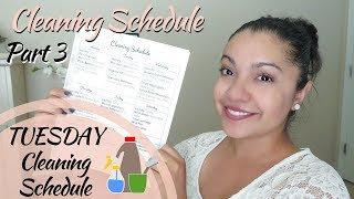 My Weekly Cleaning Schedule- Part 3 (TUESDAY) | DandV's Family