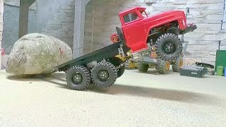 Repeat youtube video HEAVY RC TRANSPORT l STRONG AND AWESOME MACHINES LOAD A 60t STONE!
