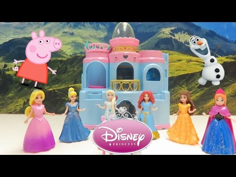 Play Doh Halloween dress up with Disney Magic clip dolls (trick-or-treat)