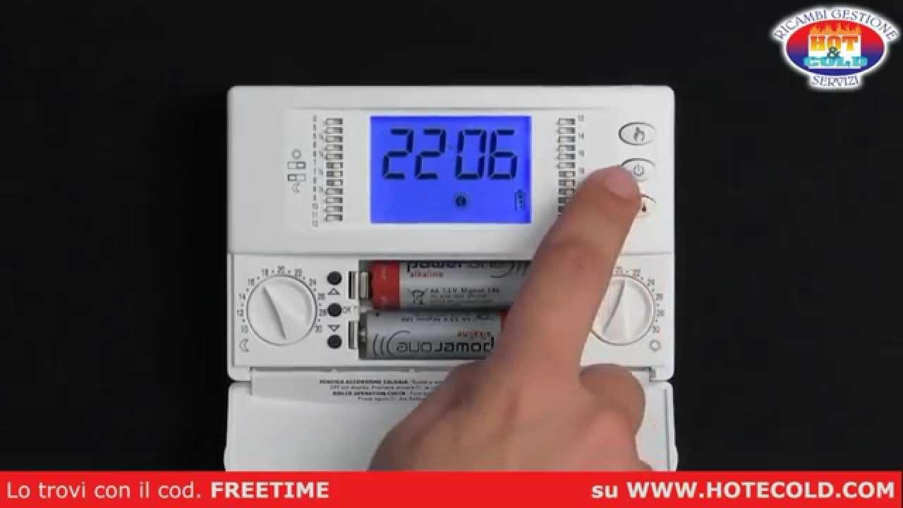 Cronotermostato Seitron Freetime Www Hotecold Com Youtube