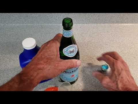 Making Magnesium Water From Milk Of Magnesia And Carbonated Mineral Water