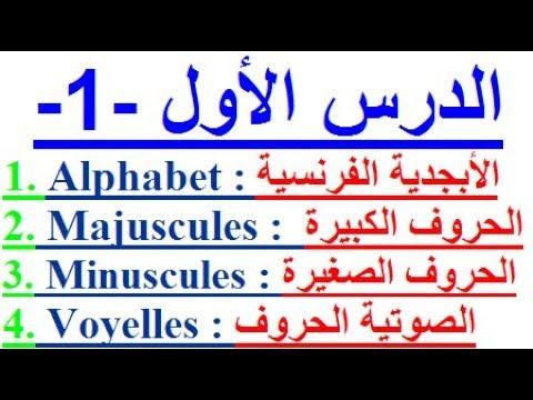 تعلم اللغة الفرنسية بسهولة وسرعة الدرس الأول - 1 -  تعلم اللغة الفرنسية