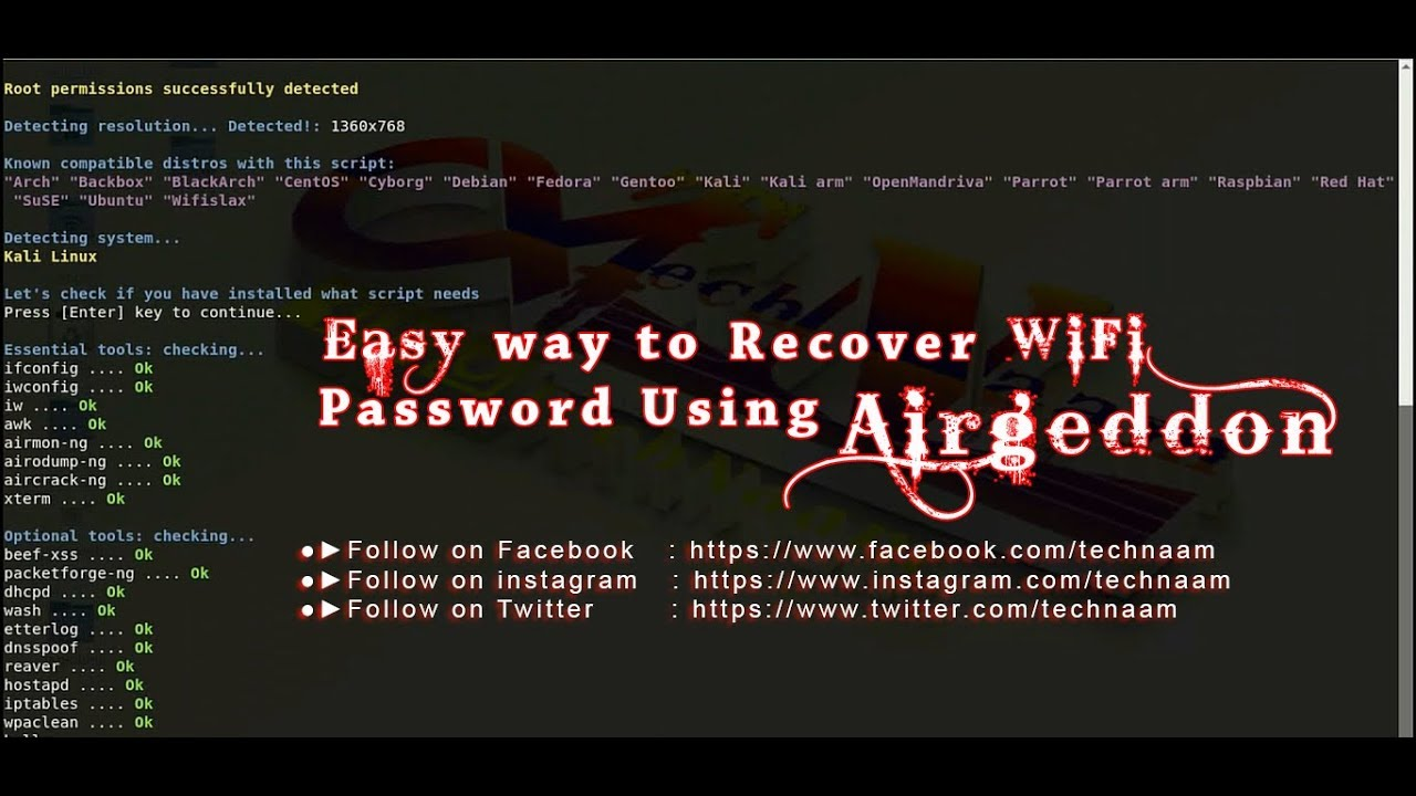 How to install airgeddon tool and recover Wifi password in kali linux