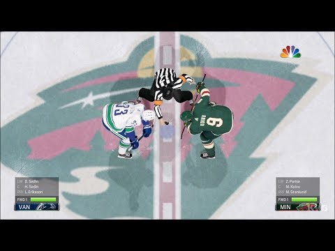NHL 18 - Minnesota Wild vs Vancouver Canucks - Gameplay (HD) [1080p60FPS]