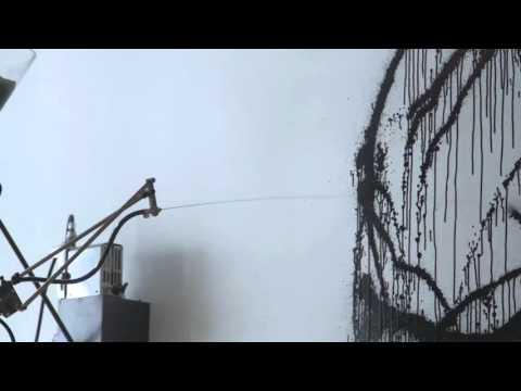 Rebecca Horn - Flying Books Under Black Rain Painting