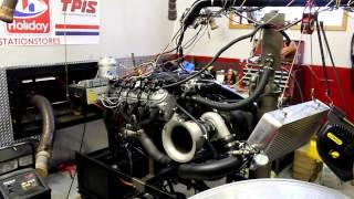 "332"" Turbo LS engine dyno, 1092HP 20psi"