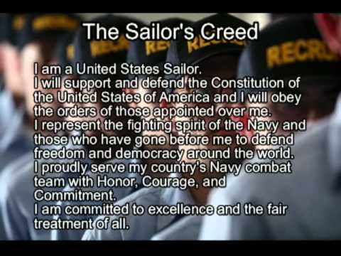 the sailors creed