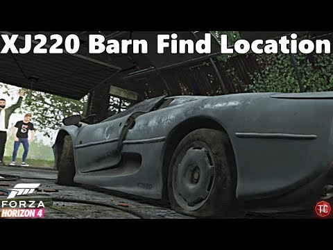 Forza Horizon 4: FIRST BARN FIND! Jaguar XJ220 Location